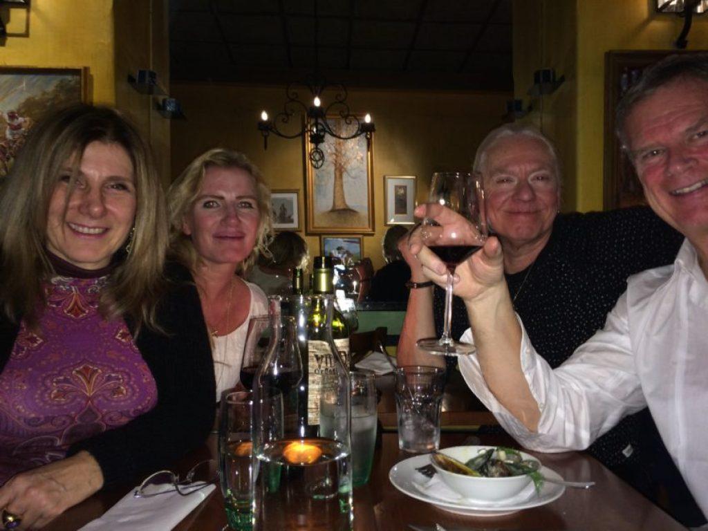 Marina, Lena, Tommy and me at Samborombon.