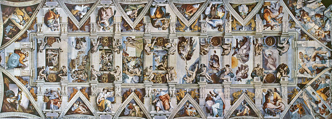 Michelangelo was 33 when he got the ceiling assignment.