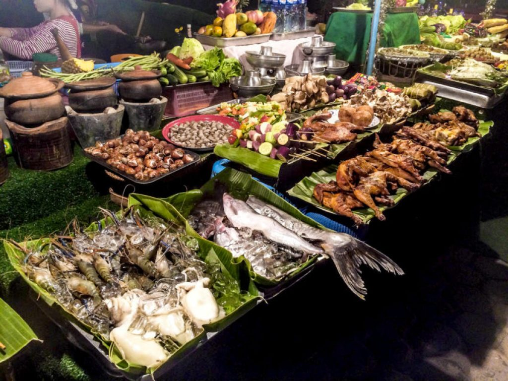 Street stalls along the Mekong are where the locals in Vientiane eat.