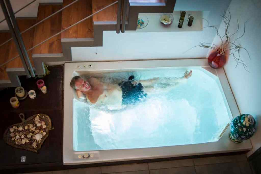 Couples can reserve La Vigna's spa for themselves. Photo by Marina Pascucci