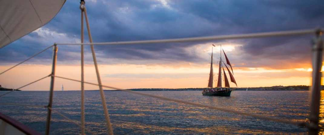 A sailboat during the sunset cruise. Photo by Marina Pascucci