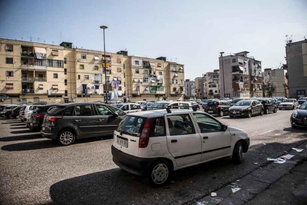 Rione Luzzatti is far from tourists in  Naples. Photo by Marina Pascucci