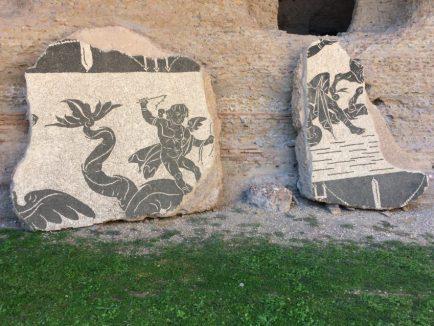 Original artwork still adorns the grounds.