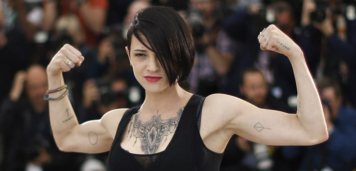 Italian actress Asia Argento came forward against Harvey Weinstein and the Italian media ran her out of the country. (Photo by Misunderstood)