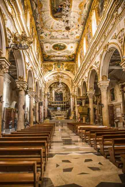 Inside the 13th century Matera Cathedral. Photo by Marina Pascucci