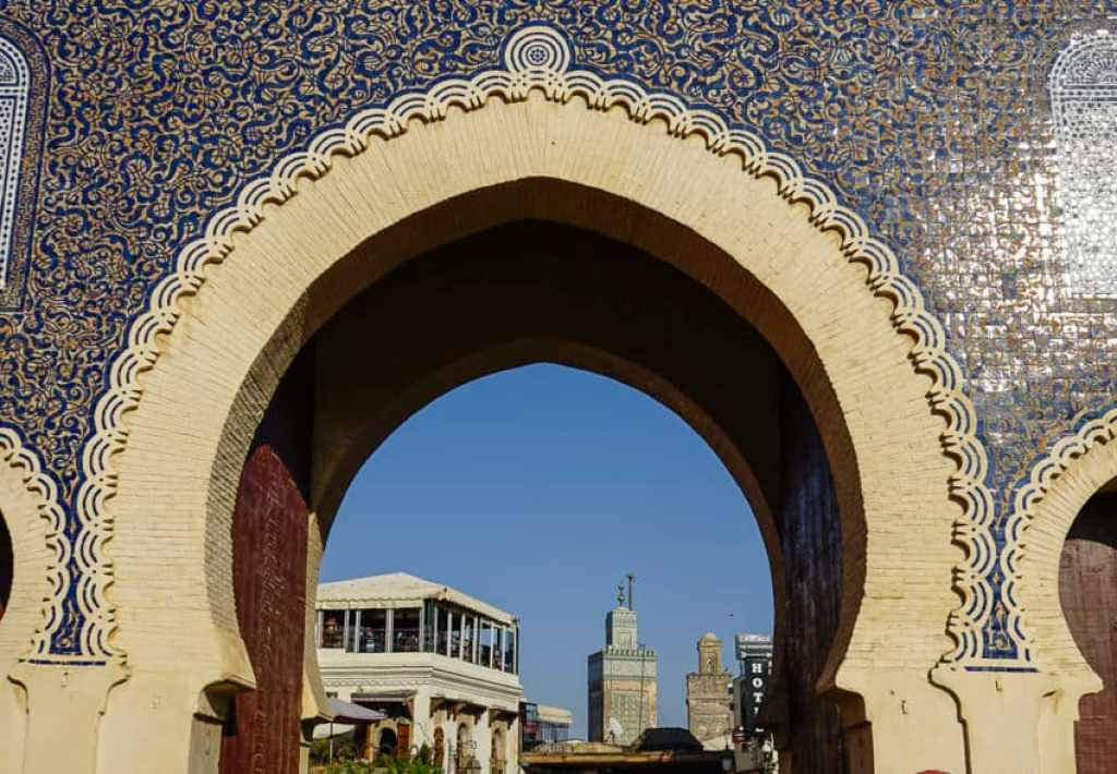 Bab Bou Jeloud (Blue Gate), one of the 14 gates to the medina. Photo by Marina Pascucci