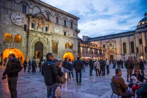 Piazza del Popolo in Ascoli Piceno. Photo by Marina Pascucci