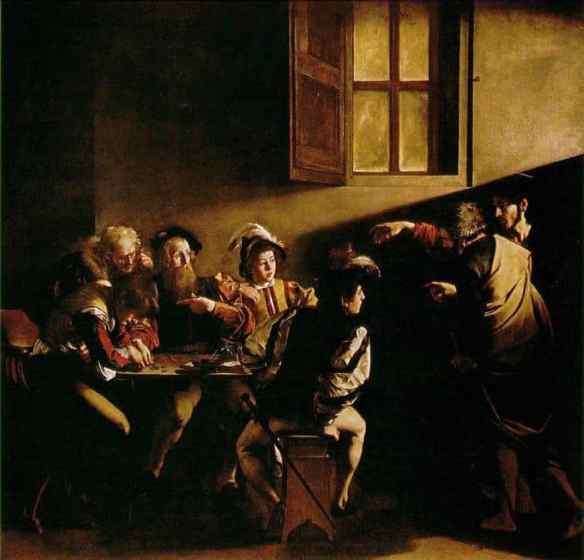The Calling of St. Matthew shows his mastery of light and shadow. WebMuseum photo