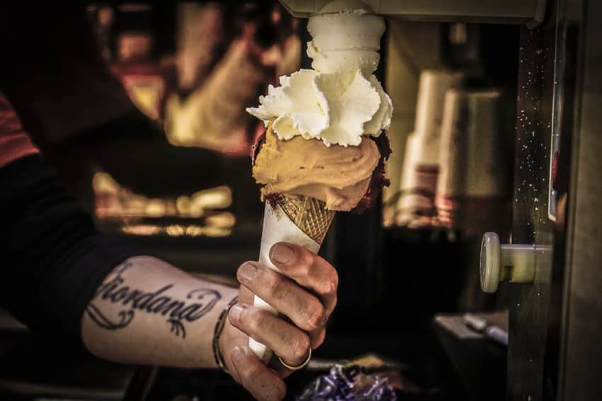You can't have gelato without panna. You just CAN'T! Photo by Marina Pascucci