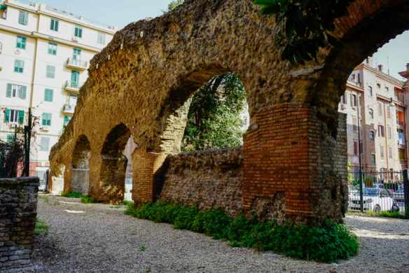 Ruins of the 2,000-year-old warehouse that used to house olive oil around the corner from my apartment. Photo by Marina Pascucci