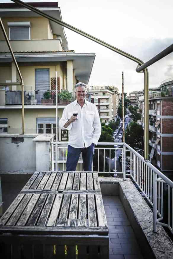 """Celebrating on the balcony of my new home in Monteverde, the """"chic"""" neighborhood of Rome. Photo by Marina Pascucci"""