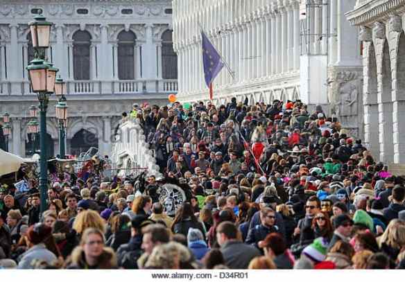Venice gets 25 million tourists a year and locals are getting angry. Alamy photo