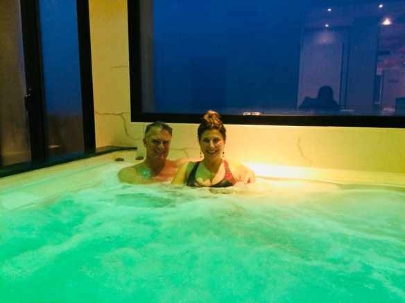 Me and Marina in the Hotel Diplomat Palace spa.