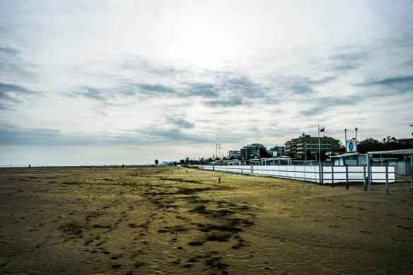 The beach in Rimini in December. Photo by Marina Pascucci