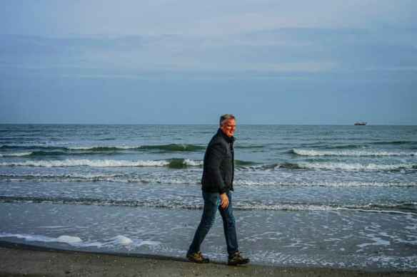 Me on the chilly Adriatic Sea. Photo by Marina Pascucci