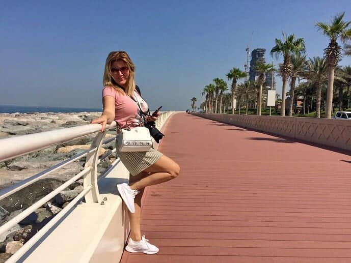 Marina on the Palm's boardwalk.