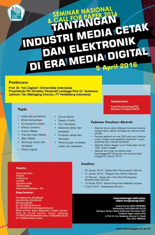 Poster Seminar Nasional 2016