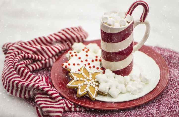 beverage candy candy cane celebration peppermint snow