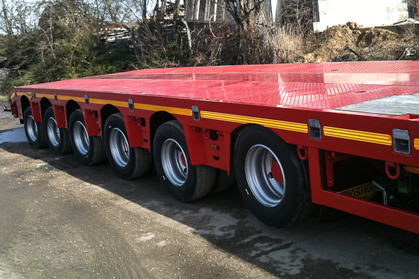 6 Axle Double Extender with Hydraulic Steering