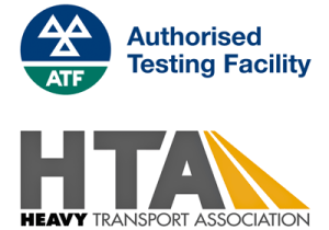 Authorised Testing Facility and Heavy Transport Association Logos