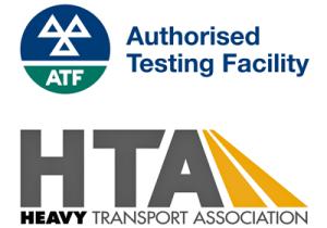 Authorised Testing Facility and Heavy Transport Association Logos