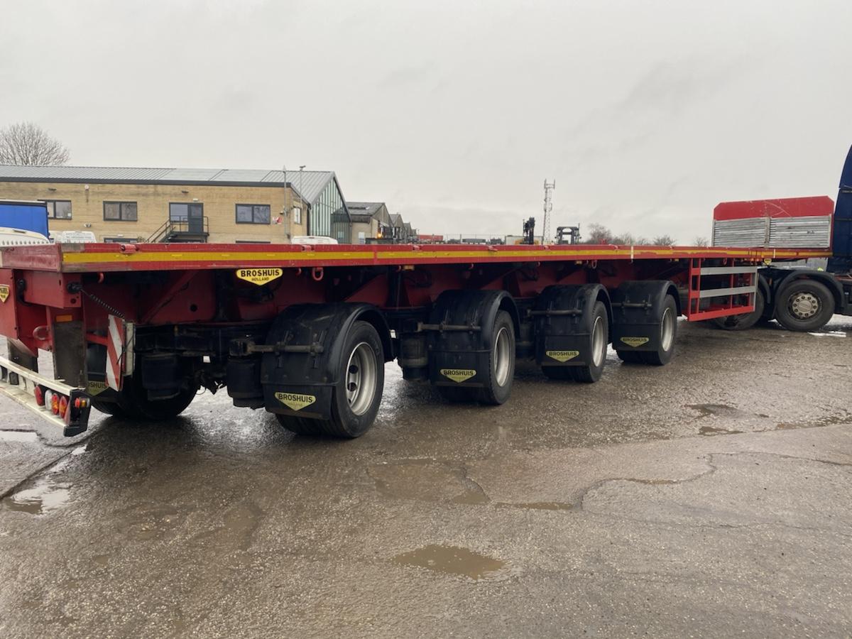 4 Axle Triple Extendible Flat