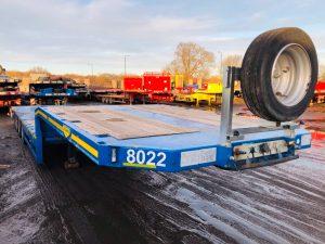 2012 Broshuis step extender 4 axle trailer