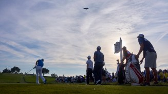 Oakmont, PA - June 18, 2016: A view of 3rd round action during the the U.S. Open Golf Championship at Oakmont Country Club in Oakmont, PA. (John Huet for ESPN)