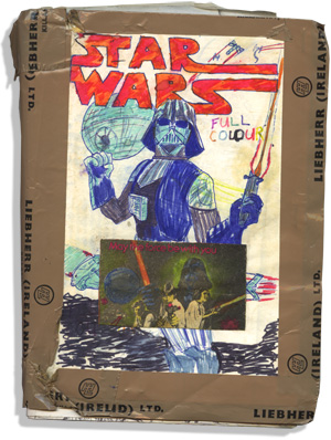 Star Wars: the Definitive comic strip adaptation (note the Liebherr packing tape)
