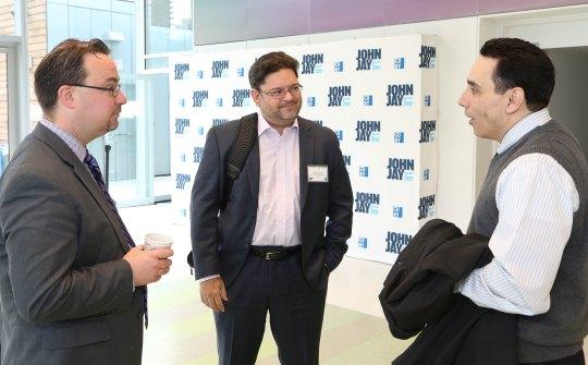 Tom Andriola (DCJS), Felipe Franco (OCFS), Andre Pabon (Abraham House)