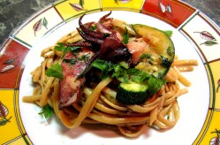 Linguine with Baby Squid and Zucchini