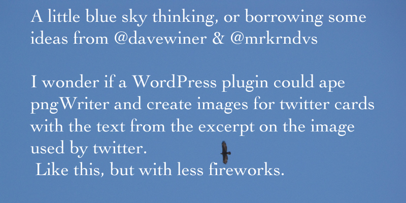 WordPress twitter card idea