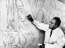 jean-cocteau-works-on-a-mural-in-the-lady-chapel-of-the-french-church-of-notre-dame-in-london-1959