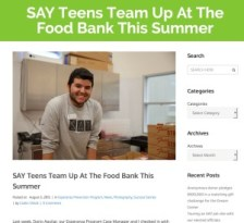 SAY teens Food Bank