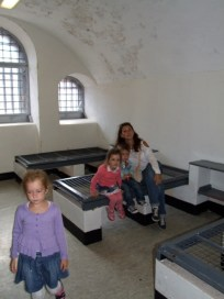 One of the more modern cells. Spike was used for a prison for a while.