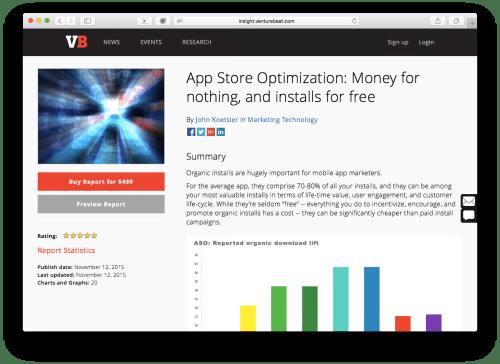 app store optimization report john koetsier
