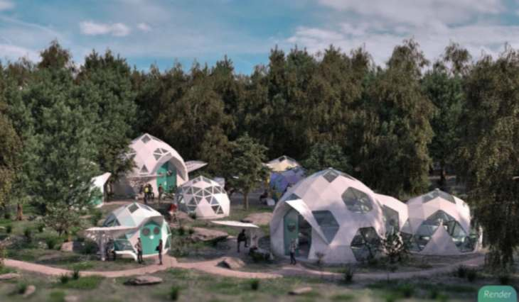 Bioceramic geodesic dome