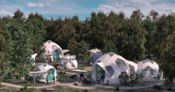 Bioceramic geodesic dome