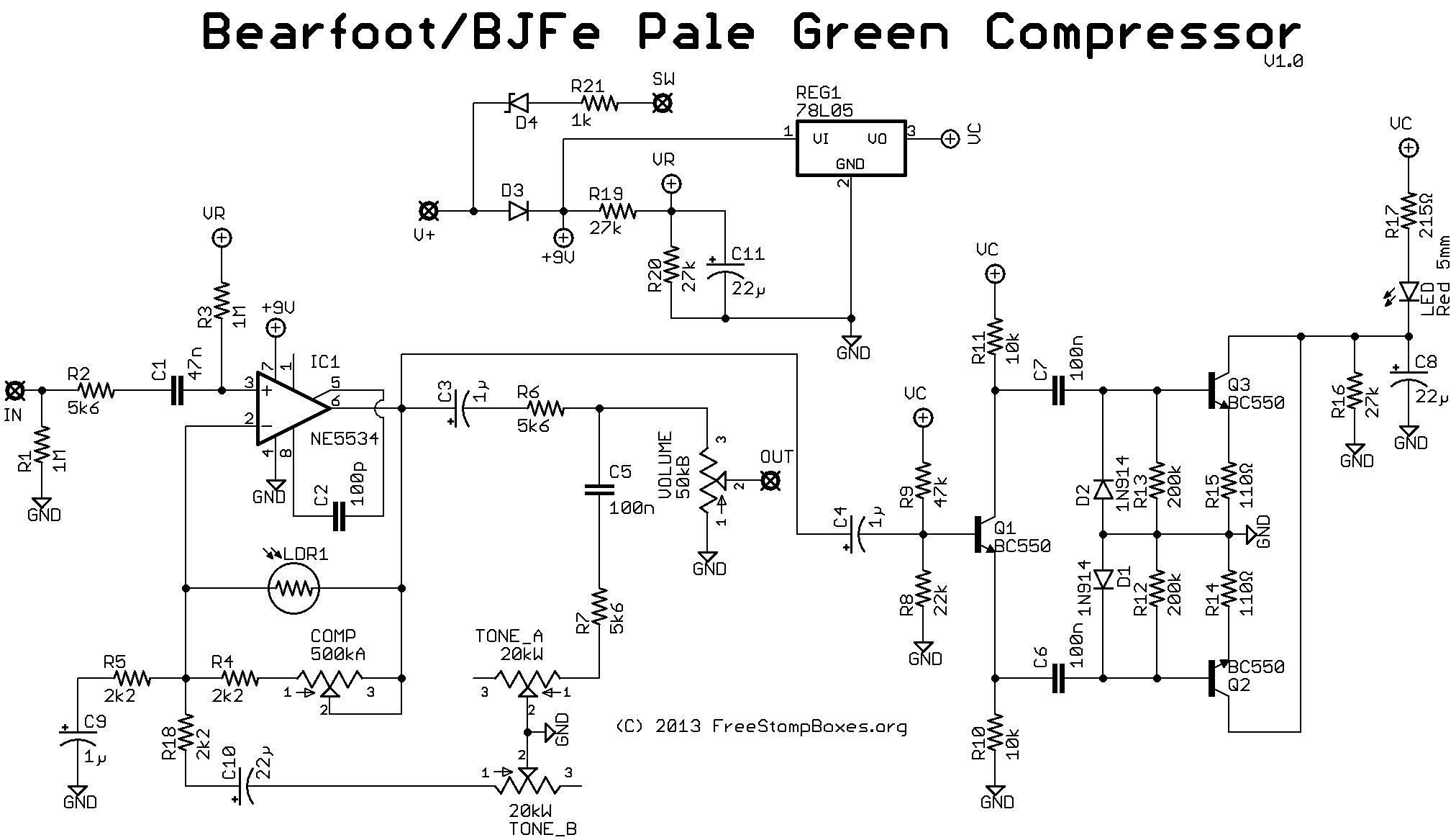 Diy Guitar Compressor Pedal Schematic