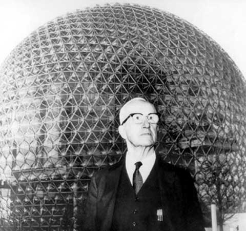 The word tensegrity, incidentally, was coined by Buckminster Fuller of BuckyBall and geodesic dome fame