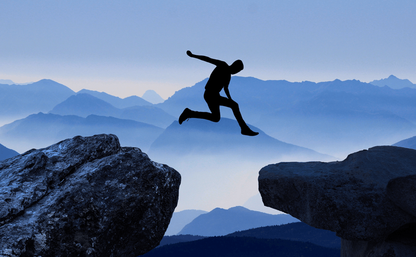 recovery treatment center image jumping between two mountains