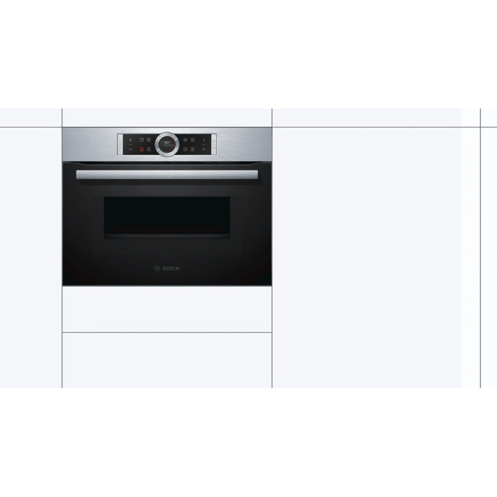 bosch cmg633bs1b compact built in combination microwave oven stainless steel