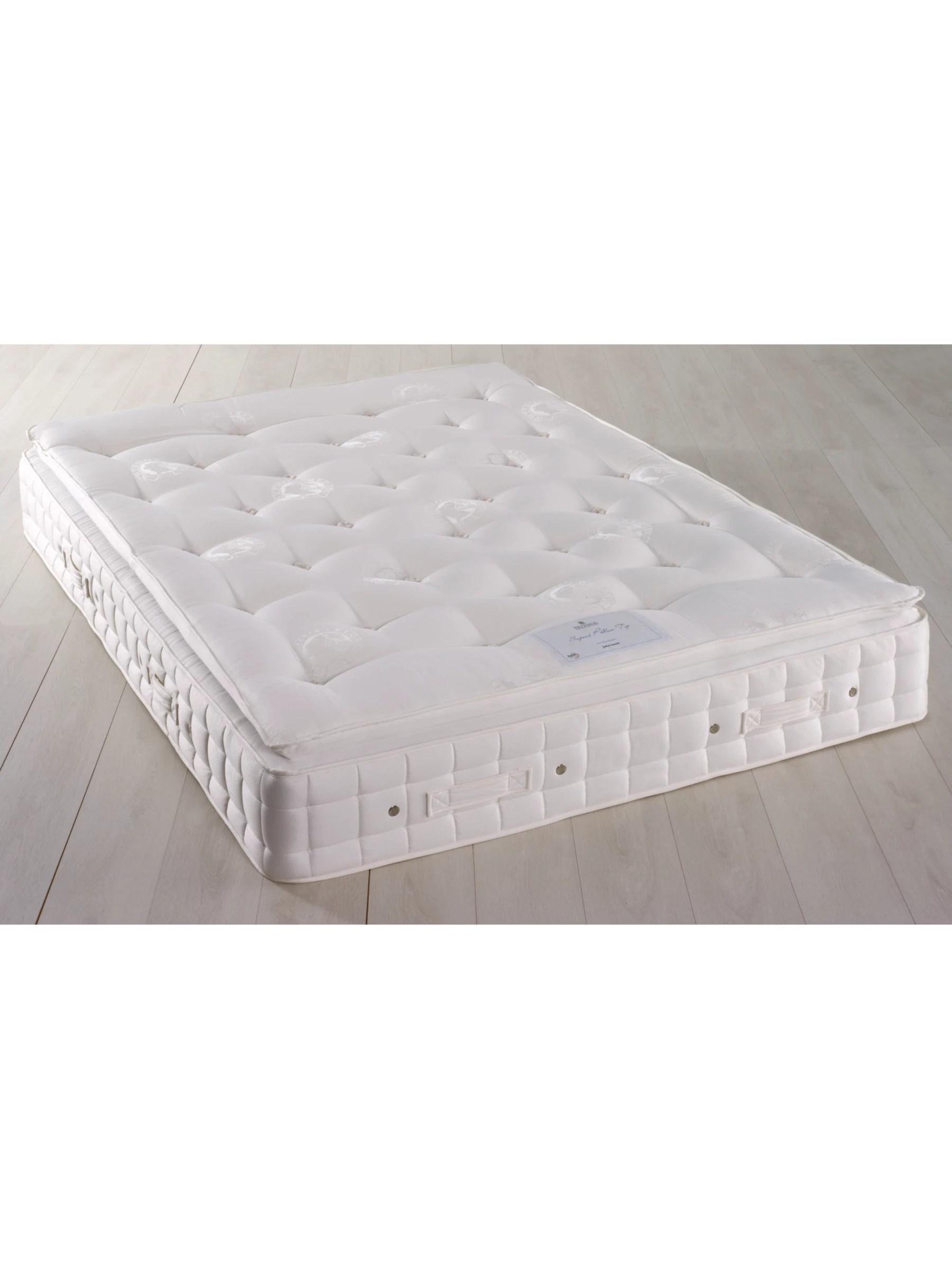 hypnos superb pillow top pocket spring mattress firm king size