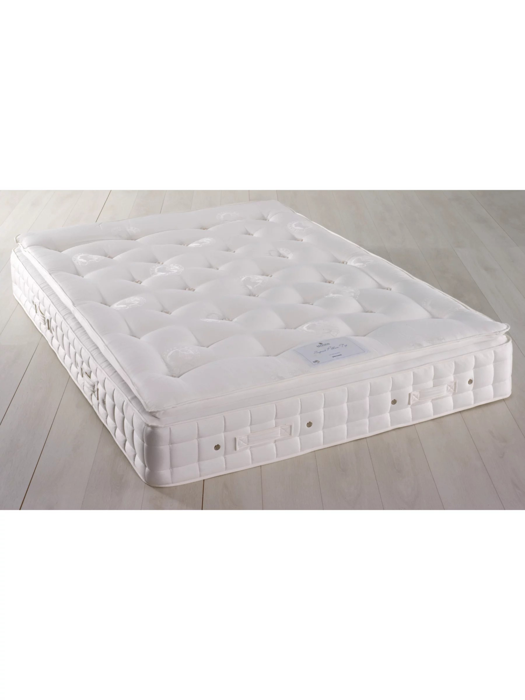 hypnos superb pillow top pocket spring mattress firm super king size