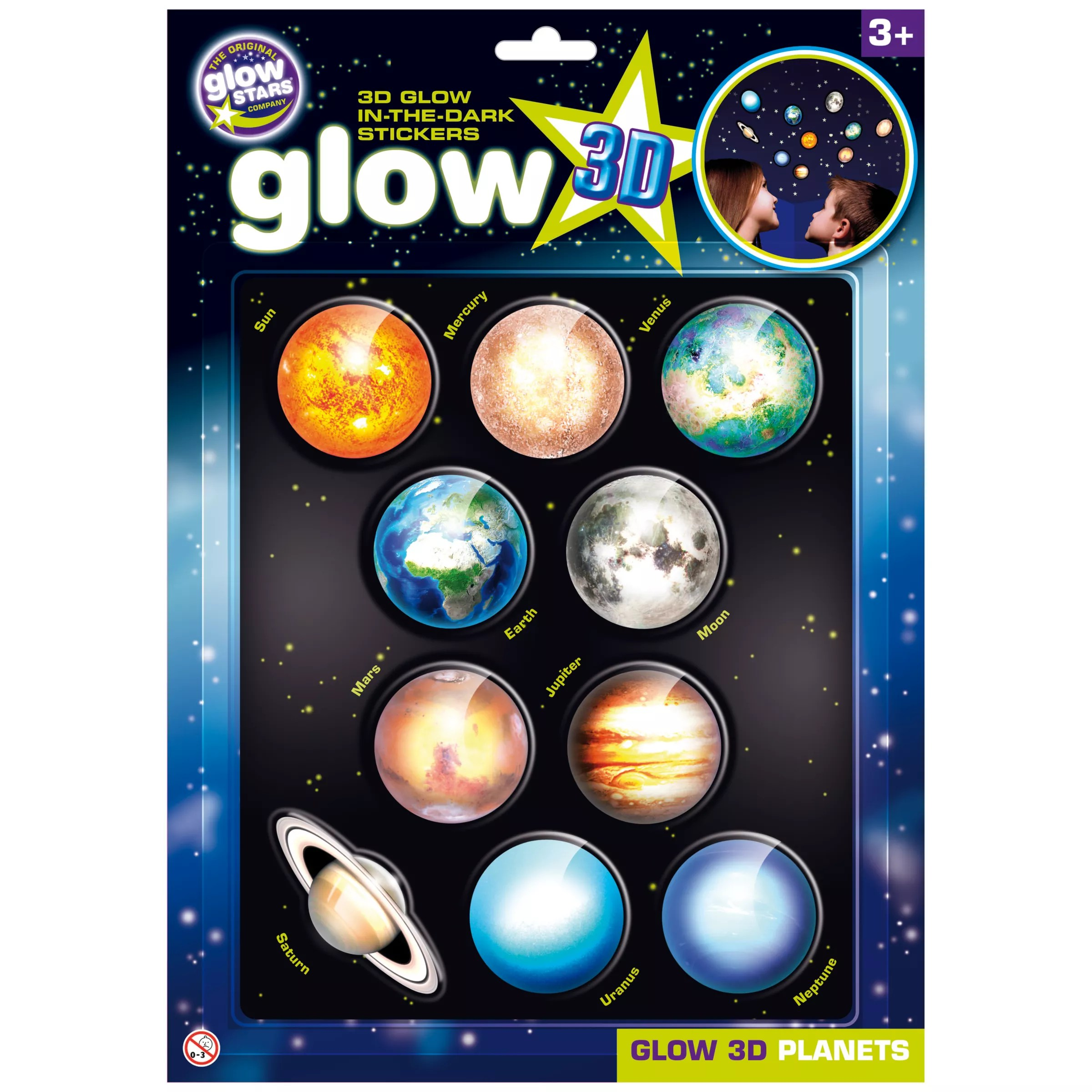Cosmic Glow in the Dark 3D Planets Set at John Lewis