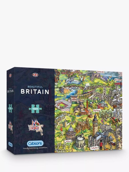 Gibsons Beautiful Britain UK Map Jigsaw Puzzle  1000 pieces at John     BuyGibsons Beautiful Britain UK Map Jigsaw Puzzle  1000 pieces Online at  johnlewis com