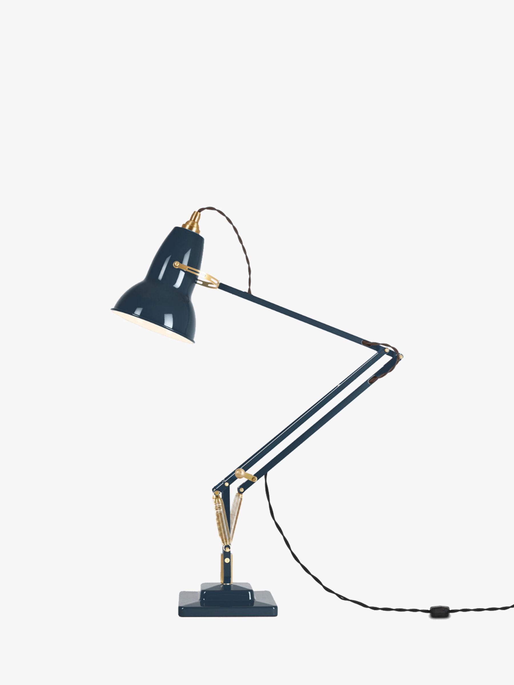 Anglepoise 1227 Desk Lamp, Ink / Brass at John Lewis ...