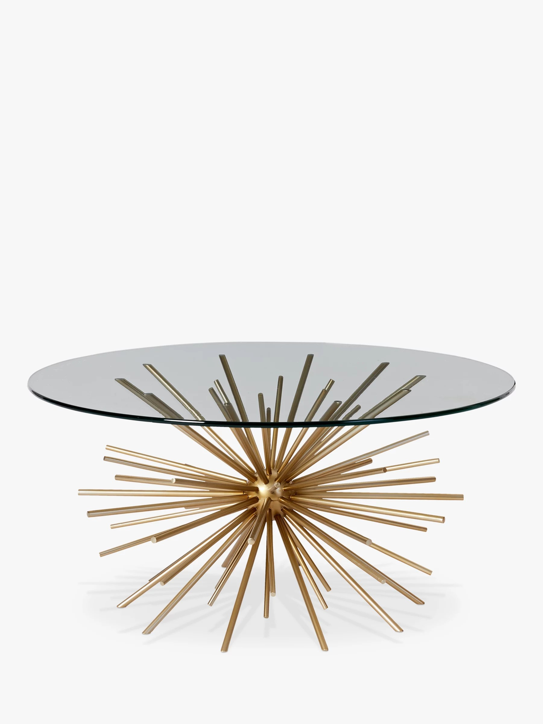 west elm sputnik coffee table brass glass