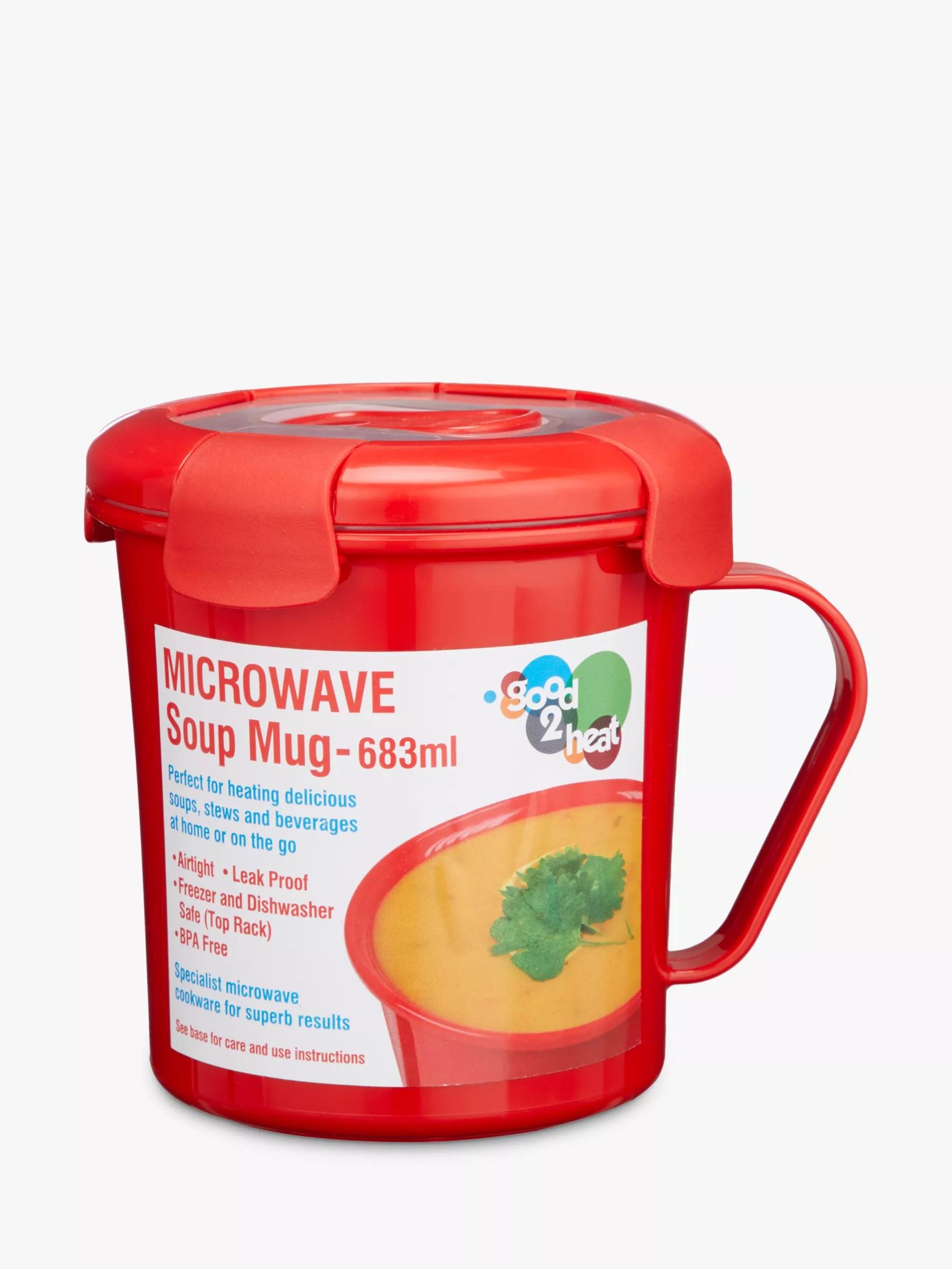 good2heat microwave leak proof soup mug red 683ml