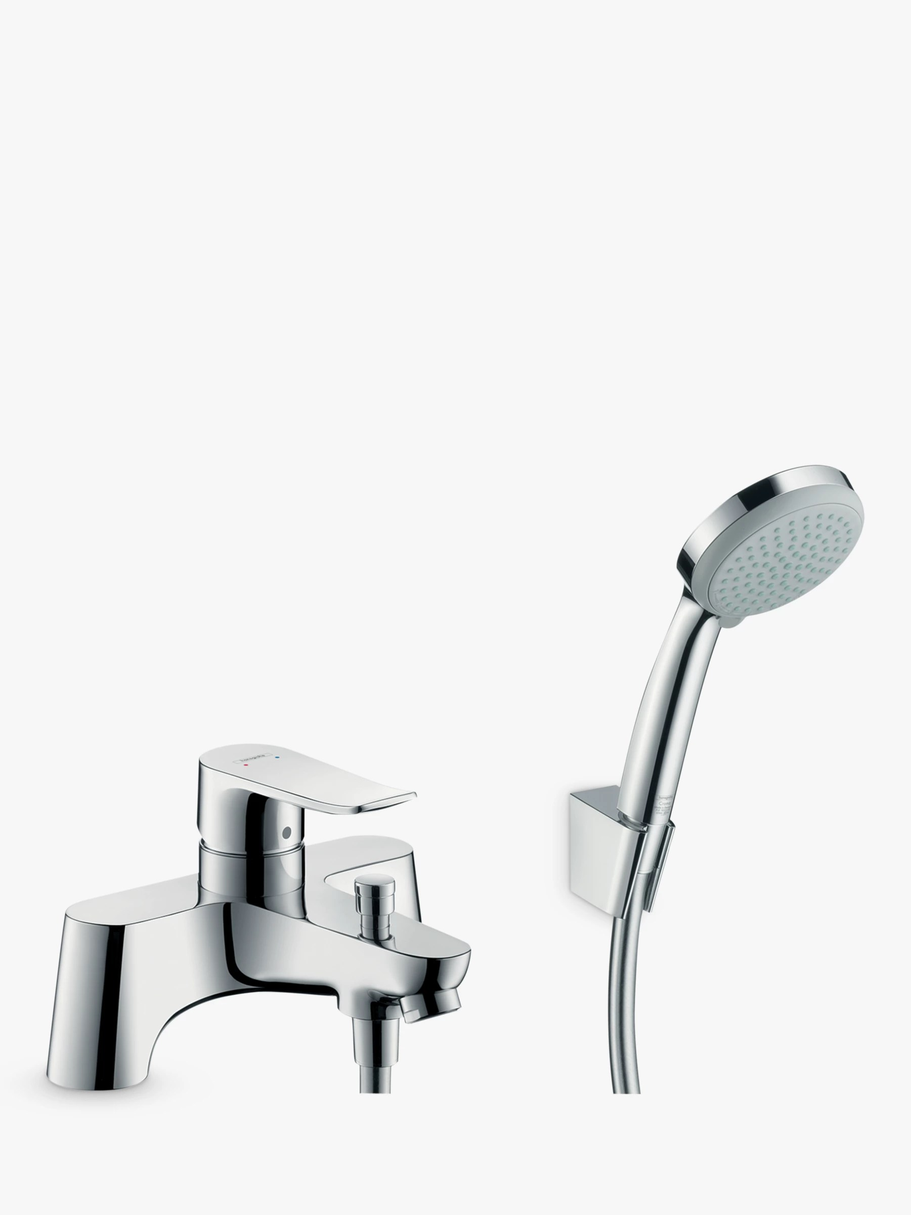 Hansgrohe Metris Single Lever Bathroom Mixer Tap With Shower Head Chrome